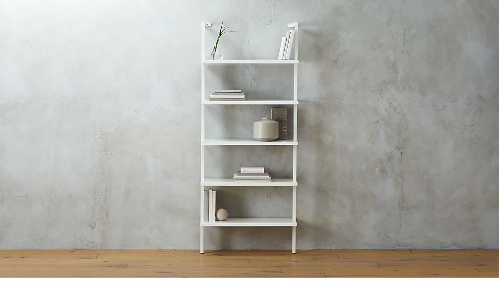 Stairway White Wall Mounted Bookshelf Reviews