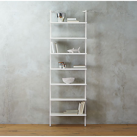Stupendous Stairway White 96 Wall Mounted Bookcase Home Interior And Landscaping Ferensignezvosmurscom