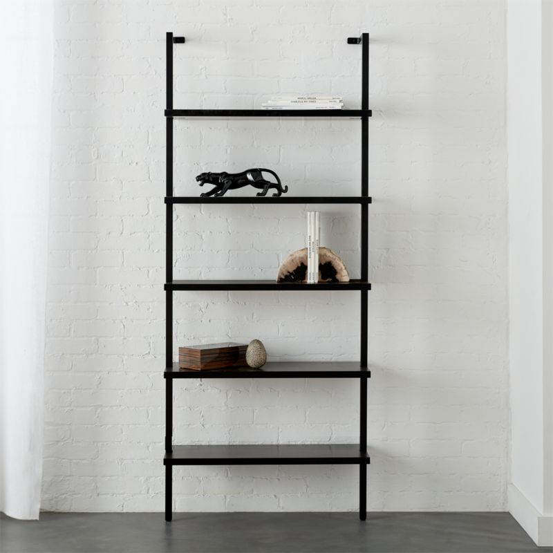 Stairway Black 725 Wall Mounted Bookcase
