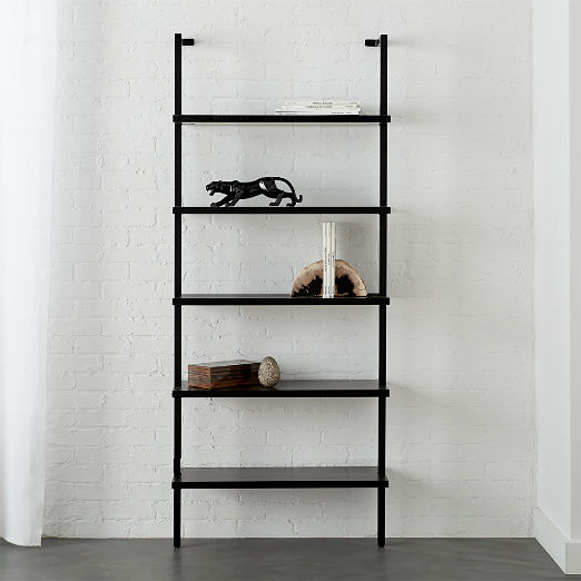 Stairway Black 72 5 Wall Mounted Bookcase