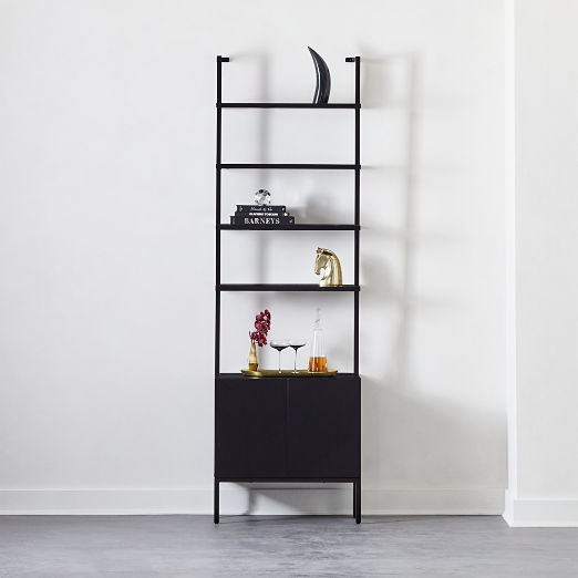 "Stairway Black Cabinet 96"""