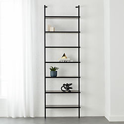 stairway black 96 wall mounted bookcase - Bookshelves Wall Mounted