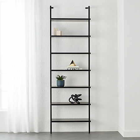 Stairway Black 96 Wall Mounted Bookcase