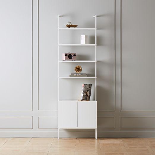 "Stairway White Cabinet 96"""