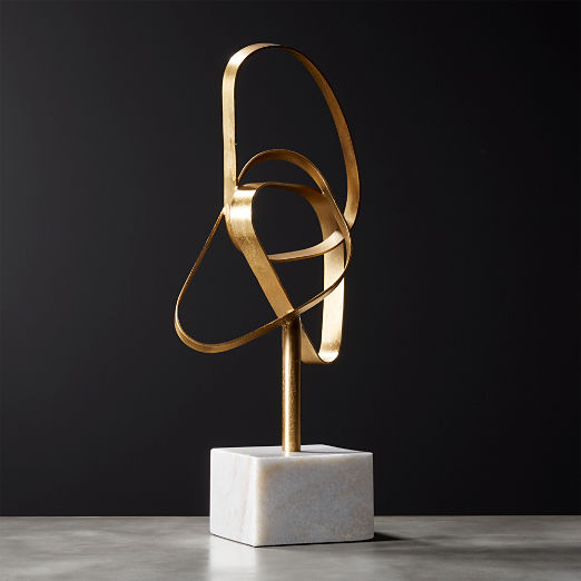 Standing Infinity Brass Knot Sculpture