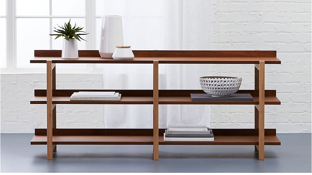 Stax Shelf Console Table Reviews CB - Cb2 sofa table