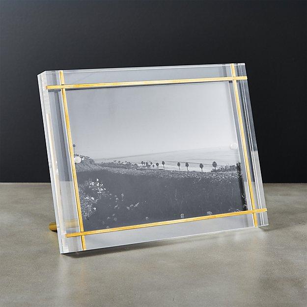 Stella Brass Inlay Acrylic Photo Frame 5x7 Reviews Cb2