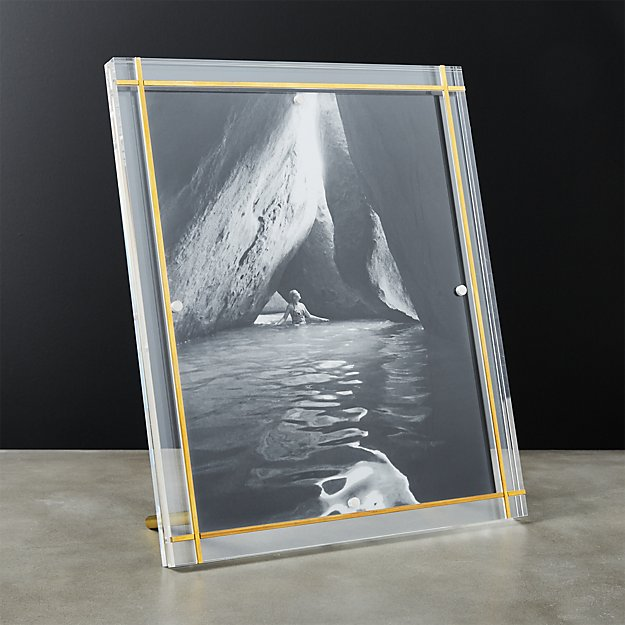 Stella Brass Inlay Acrylic Photo Frame 8x10 Reviews Cb2