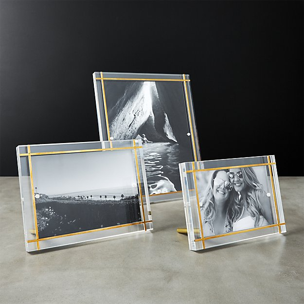 Stella Brass Inlay Acrylic Photo Frames - Image 1 of 5