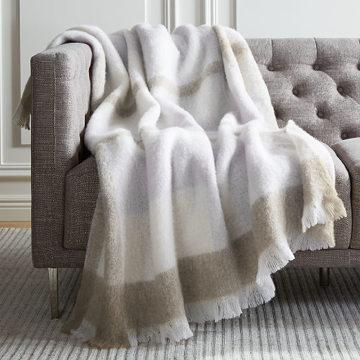 Stella Plaid Throw