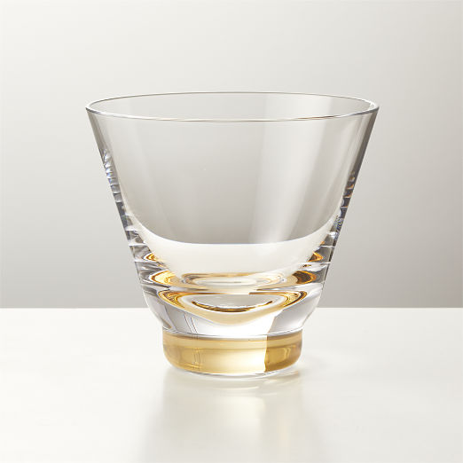 Step Gold Double Old-Fashioned Glass