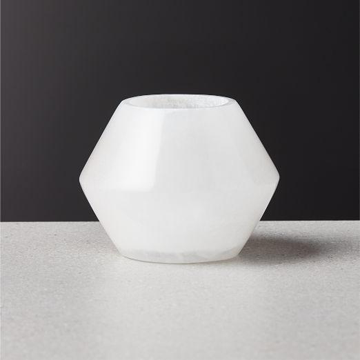 Stevie Alabaster Tea Light Candle Holder