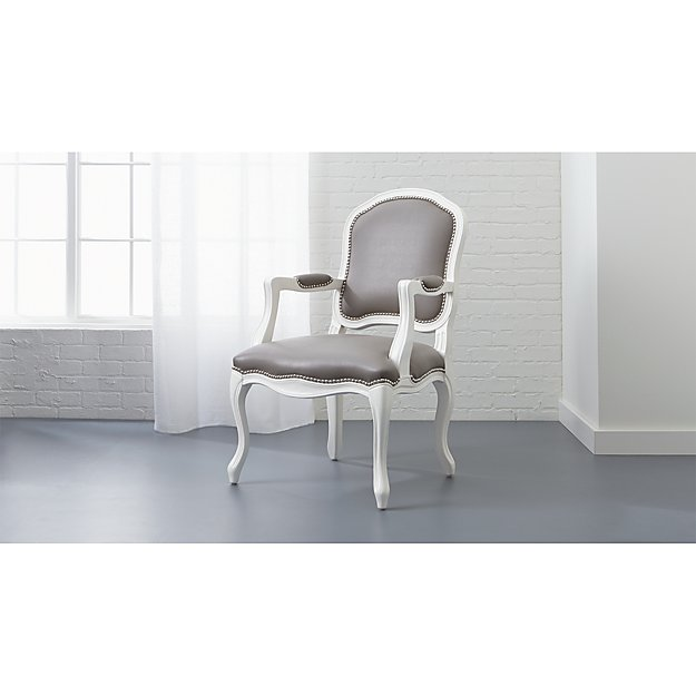 Stick Around Grey And White Dining Chair Reviews Cb2