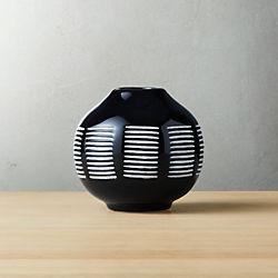 Sch Black And White Ceramic Vase