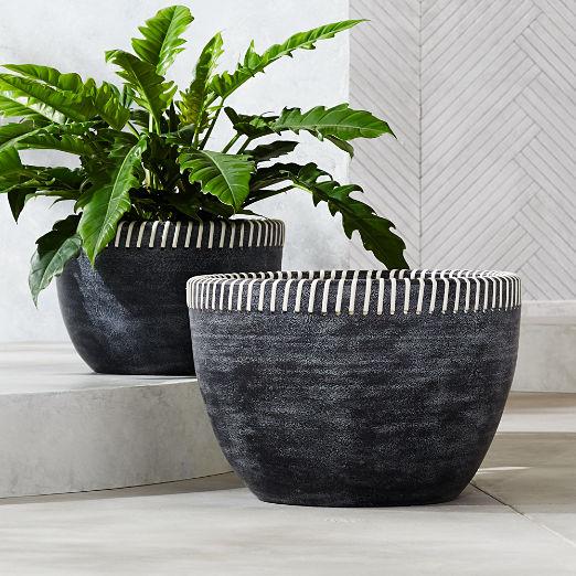 Stitch Handmade Black Planters