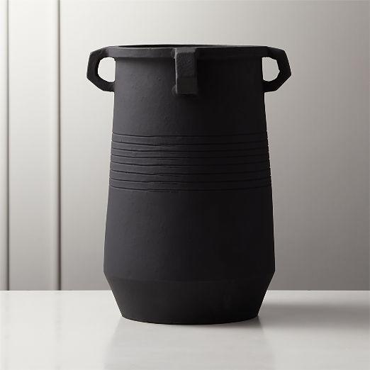 Stock Matte Black Vase