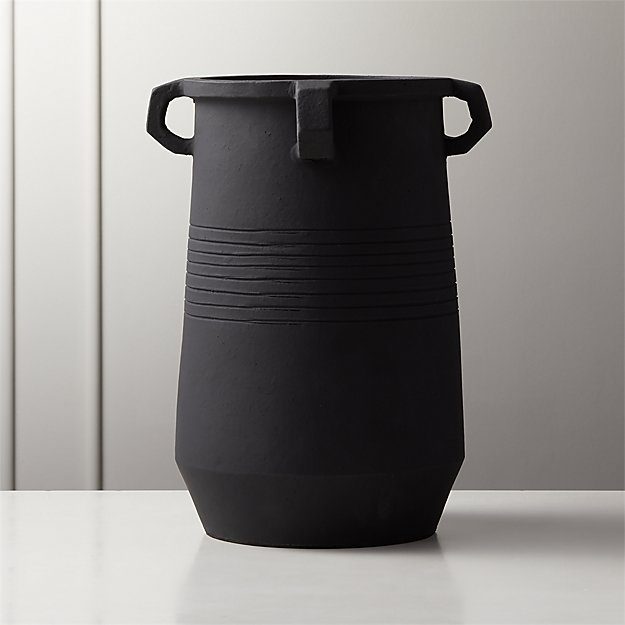 Stock Matte Black Vase - Image 1 of 6
