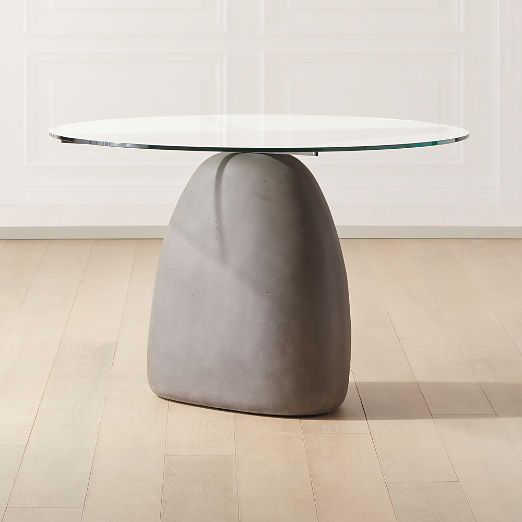 """Stone Grey Round Dining Table 47"""""""