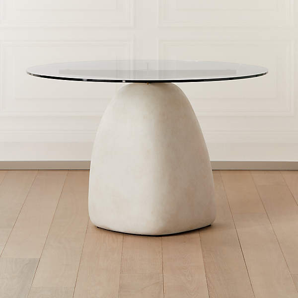 Stone Ivory Round Dining Table 47, Round Pub Table Canada