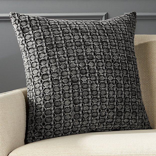 """20"""" Black Stonewash Pillow - Image 1 of 5"""