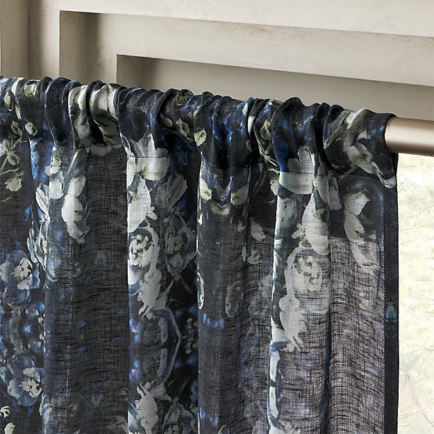 """Storm Floral Print Curtain Panel 48""""x120"""" - Image 1 of 5"""