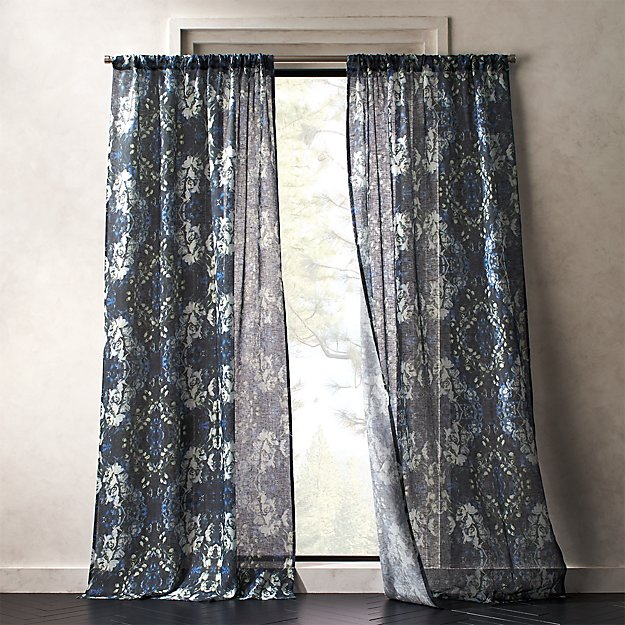 Storm Floral Print Curtain Panel - Image 1 of 5