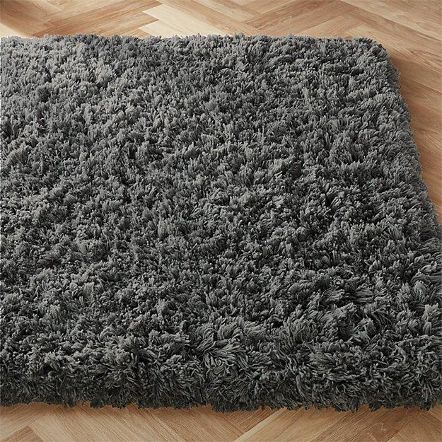 Stratus Dark Grey Shag Rug - Image 1 of 3