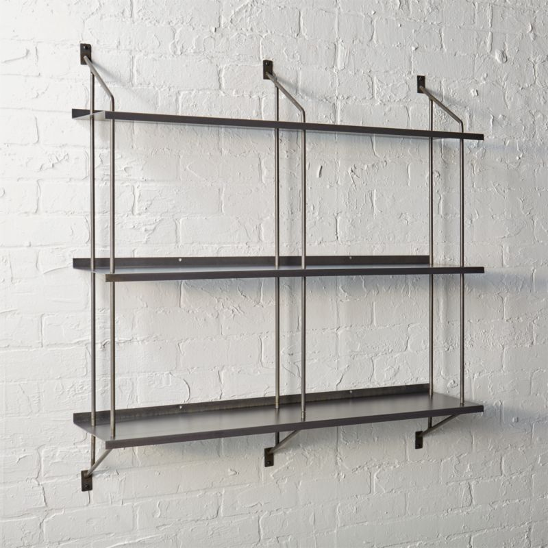 steel wall shelves | CB2