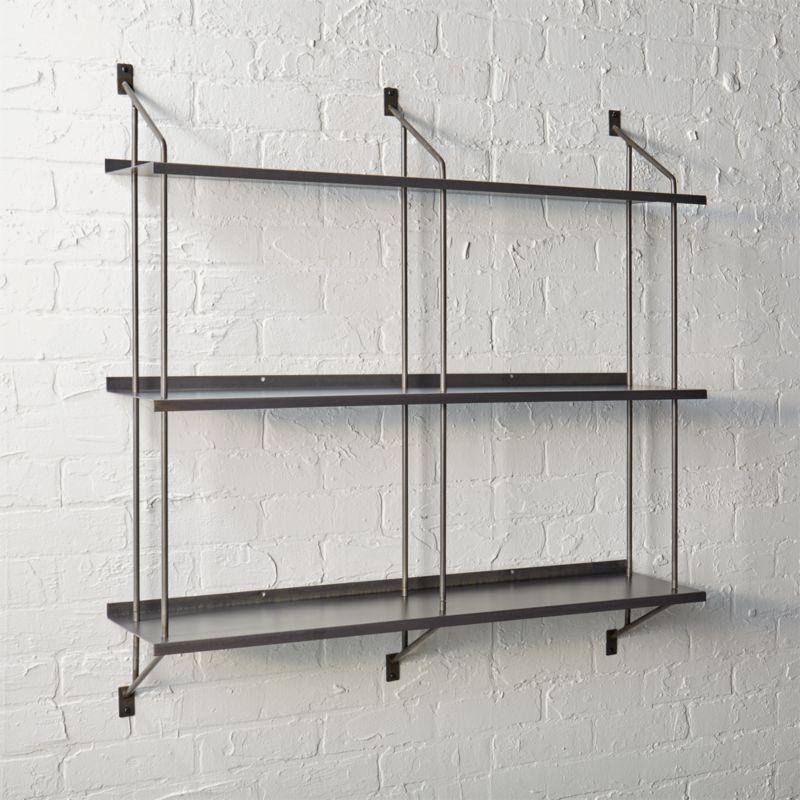 steel wall shelves | CB2