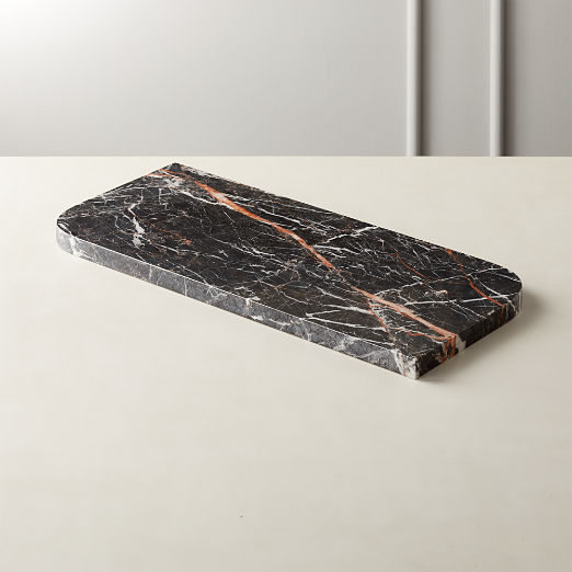 Strike Black Marble Serving Board