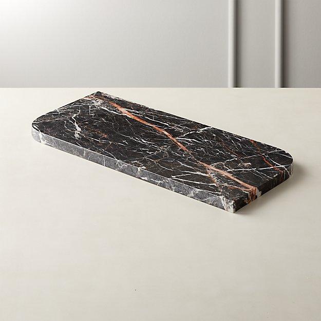 Strike Black Marble Serving Board - Image 1 of 4