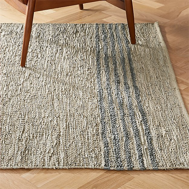 Strike Natural Leather Rug - Image 1 of 10