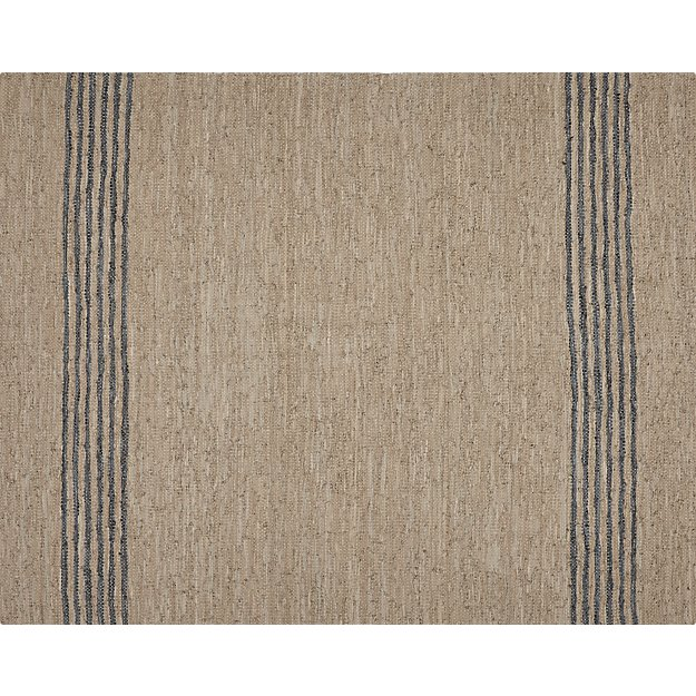 Strike Natural Leather Rug 8'x10' - Image 1 of 10