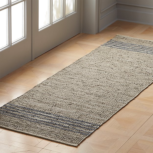 Strike Natural Leather Runner 2.5'x8' - Image 1 of 3