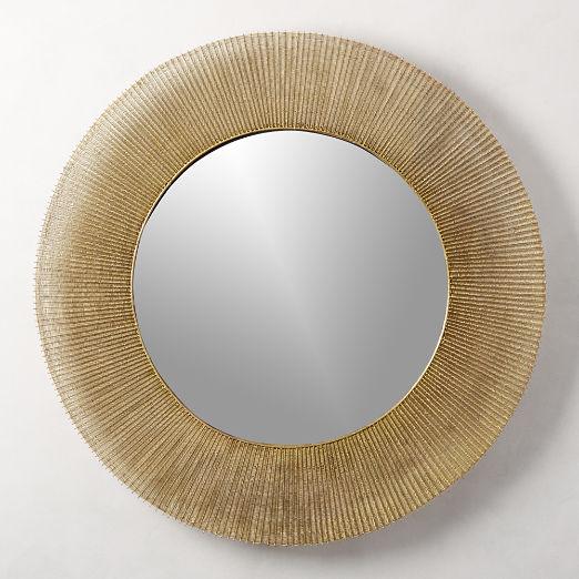 """Sunburst Round Wall Mirror 42"""""""
