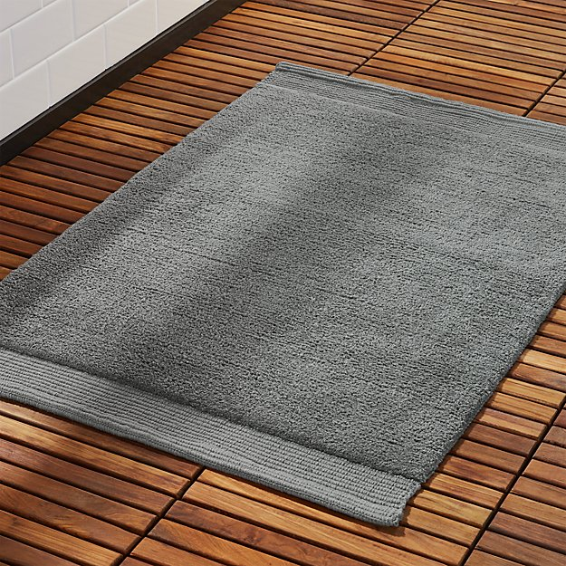 Surface Dark Grey Bath Mat Reviews Cb2
