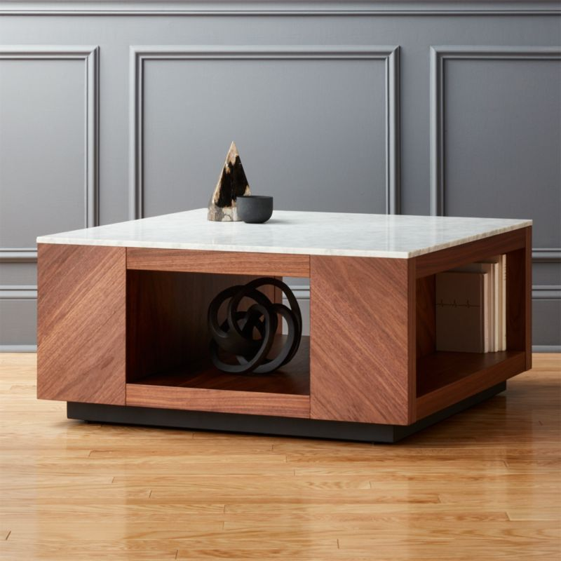 Contemporary Cappuccino Connect It Computer: Suspend II Marble And Wood Coffee Table + Reviews