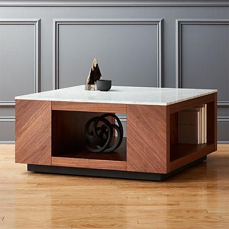Tremendous Suspend Ii Marble And Wood Coffee Table Inzonedesignstudio Interior Chair Design Inzonedesignstudiocom