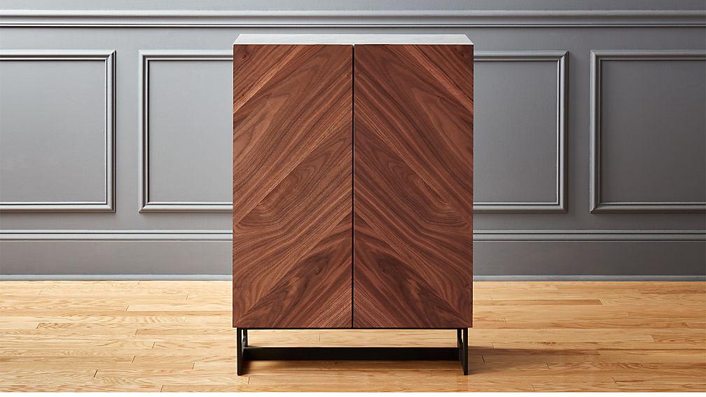 Suspend Ii Wood Entryway Cabinet Reviews Cb2