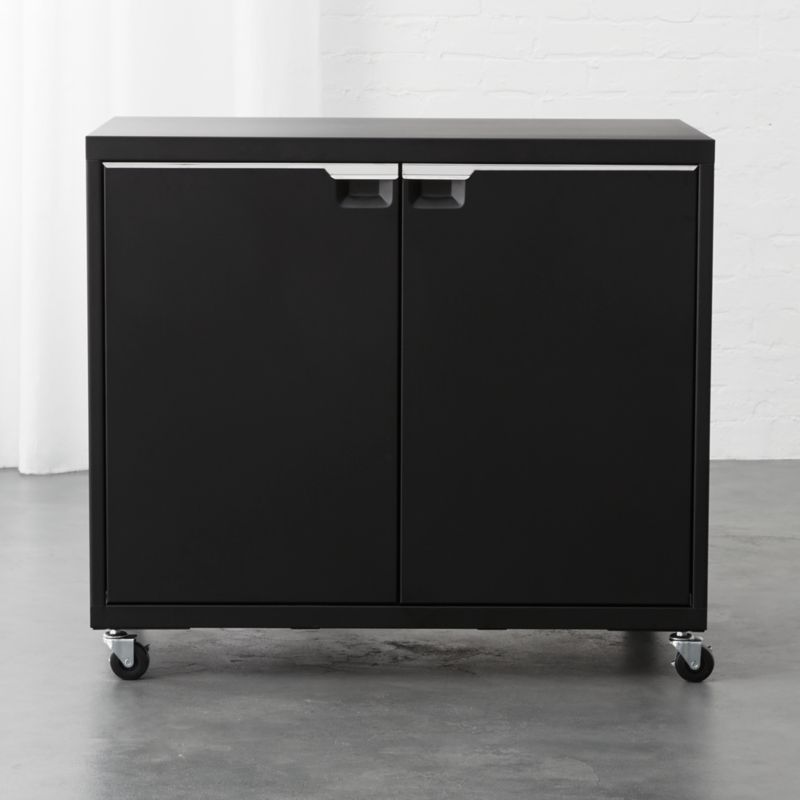 TPS Black 2-Door Wide Cabinet