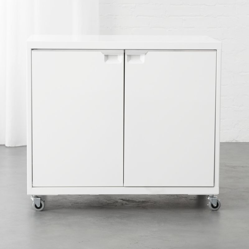 TPS White 2-Door Wide Cabinet