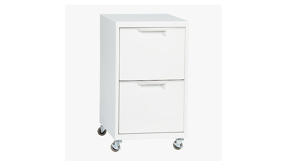 Merveilleux TPS White 2 Drawer Filing Cabinet + Reviews | CB2