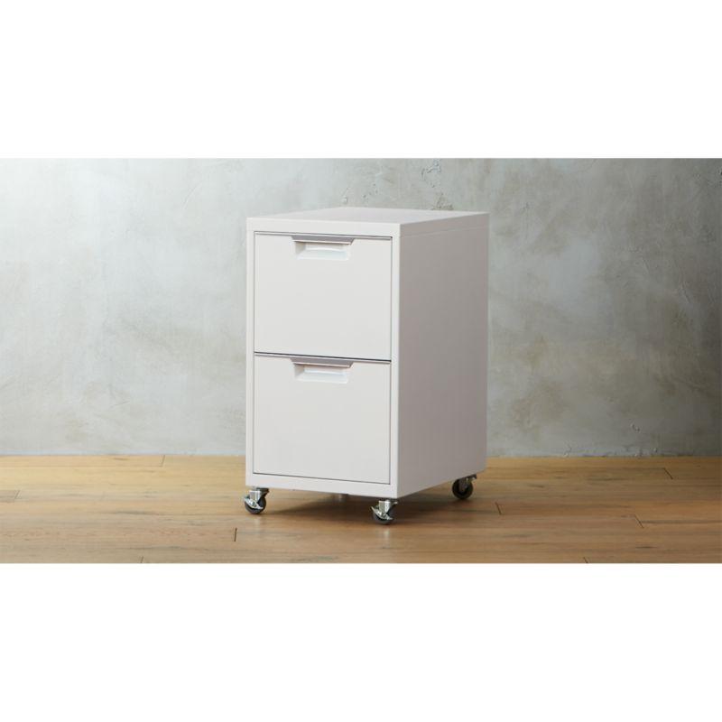 TPS white 2 drawer filing cabinet Reviews CB2