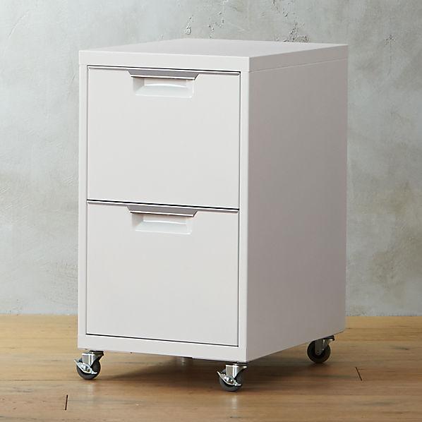 Tps White 2 Drawer Filing Cabinet