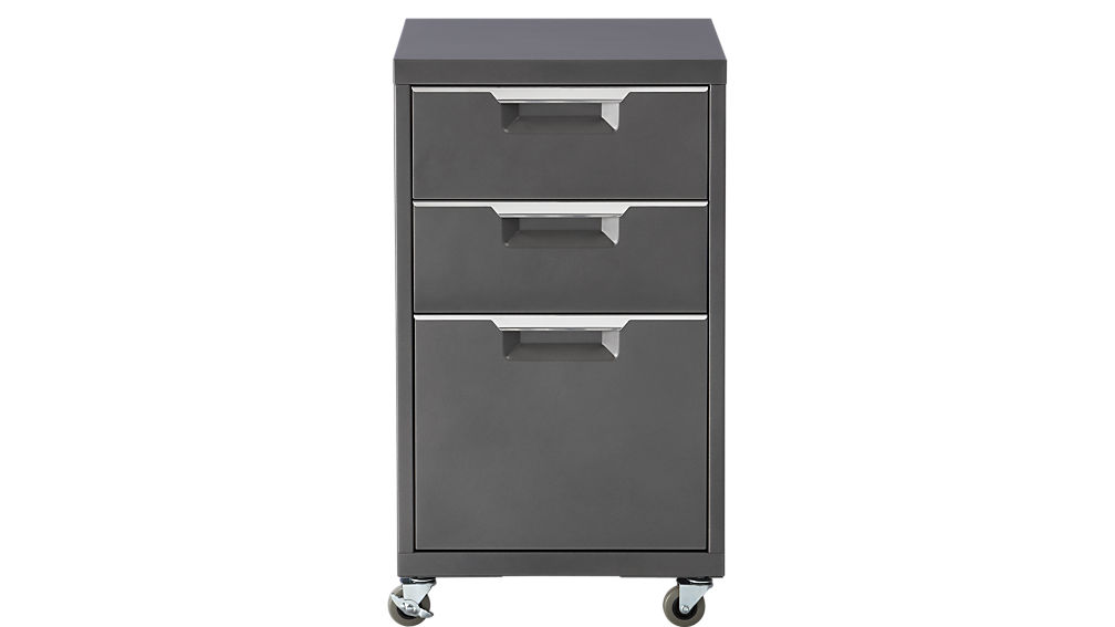 tps carbon 3-drawer filing cabinet | cb2 drawer file cabinet