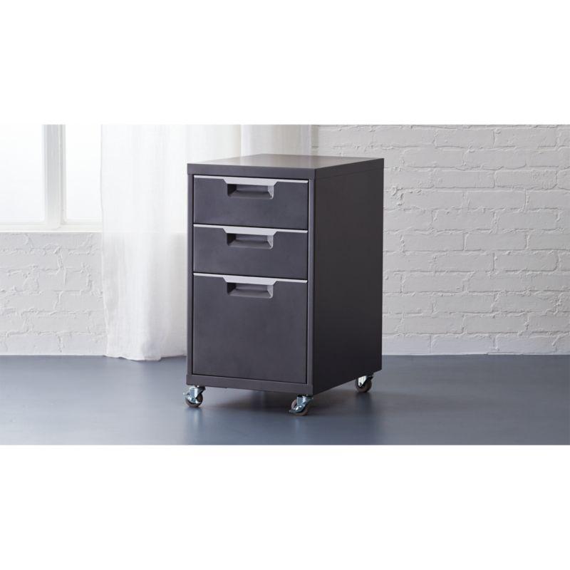TPS carbon 3 drawer filing cabinet CB2