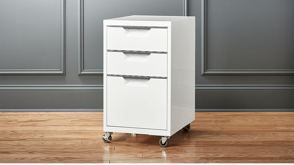 Tps 3 Drawer White File Cabinet Reviews Cb2