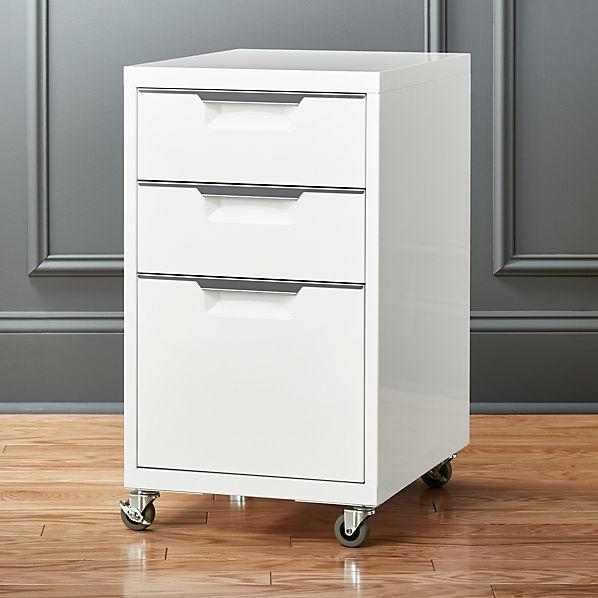 Tps 3 Drawer White File Cabinet