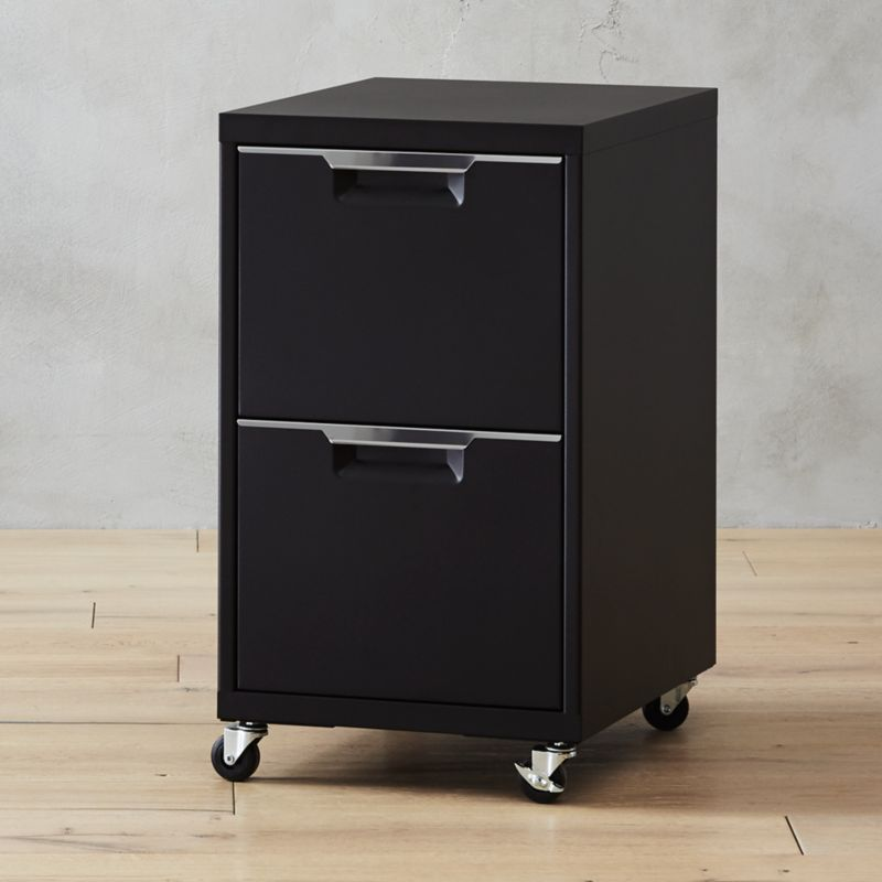 TPS Black 2-Drawer Filing Cabinet