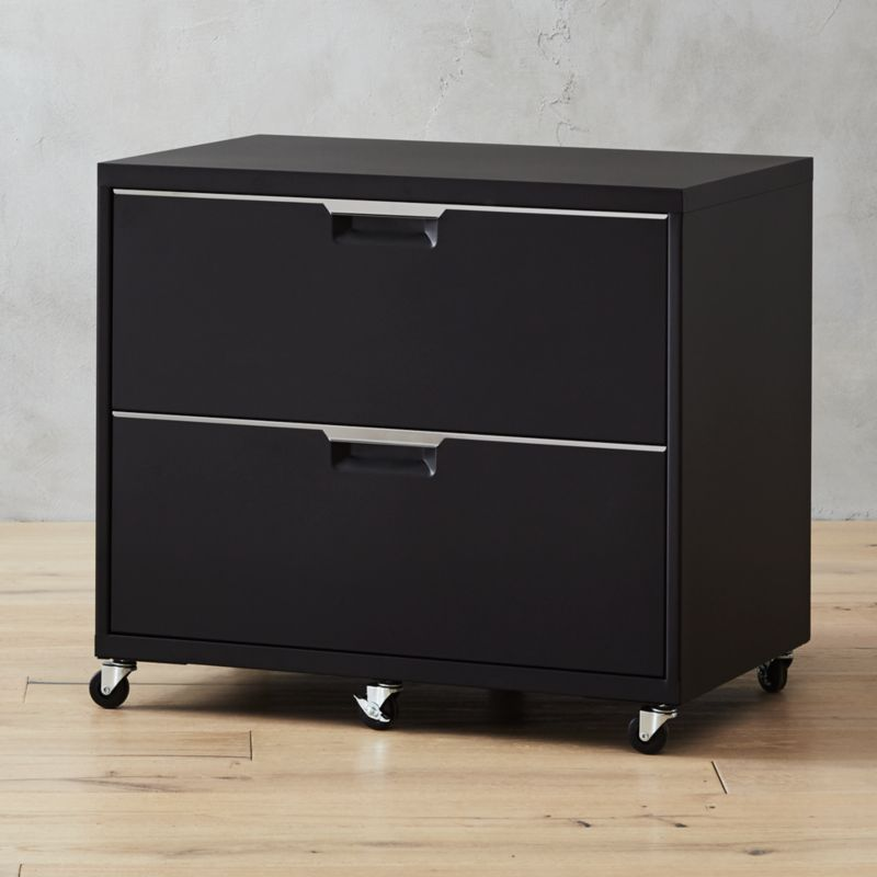 TPS Black Wide Filing Cabinet